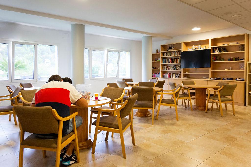 Salón de estar para los residentes