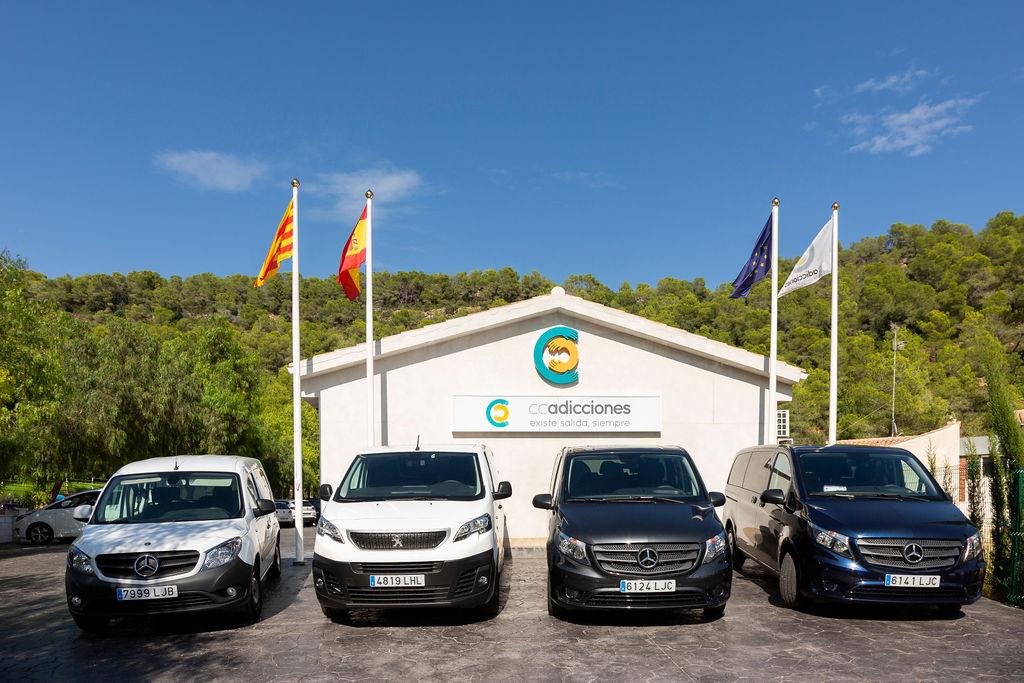 Flota de vehículos de la clínica CC Adicciones