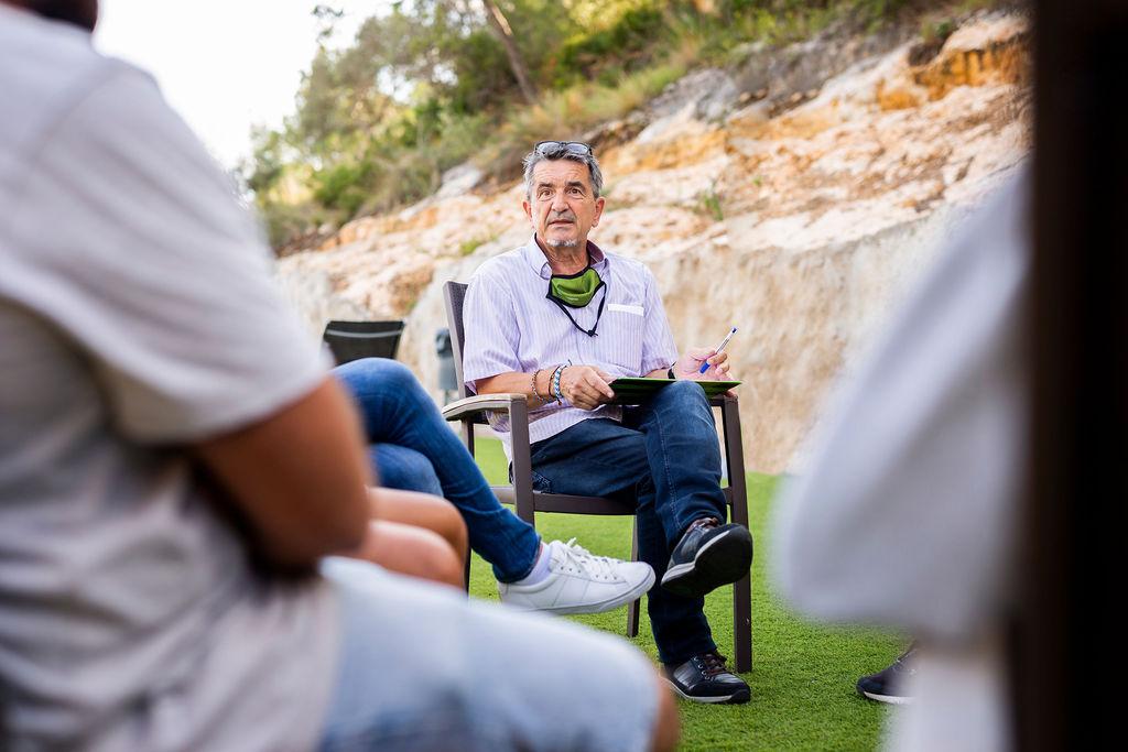Actividades en los espacios exteriores del centro terapéutico