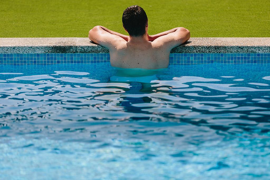 Perspectiva de la piscina de CC Adicciones